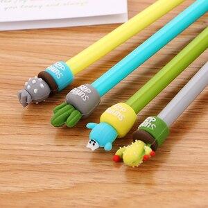 Image 3 - 100 adet yaratıcı kırtasiye kaktüs nötr kalem sevimli karikatür öğrenci iğne su kalem ofis malzemeleri İmza Kawaii kalem