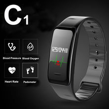 C1 Bluetooth Smart Wristband Bracelet Smartband Heart Rate Monitor Pulse Blood Pressure for Apple Android Phone Xiaomi mi band 2