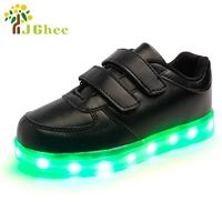 Led Luminous Shoes For Boys Girls Fashion Light Up Casual Kids 7 Colors USB Charge Glowing Children Sneakers Tenis Feminino