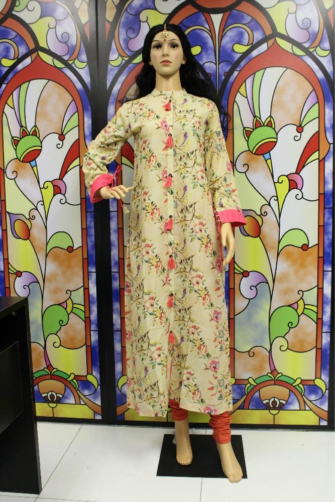 THE SHIGNER Indian Designer Digital Print Floral Cotton Kurta In Shape Tunic Top Kurti Ladies Dress Clothing New Casual Wear