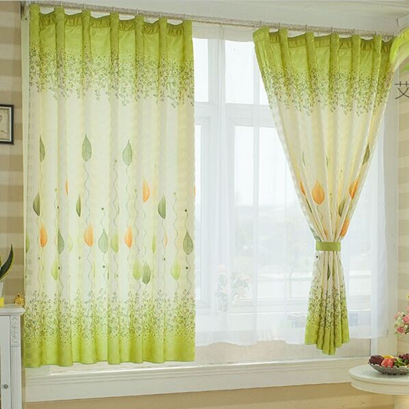 Korean Style Ready Made Short Door Window Curtain For Kitchen Balcony Cartoon Design Small Blackout Curtain Red Blue Green In Curtains From Home Garden On
