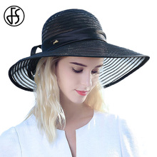 2017 New Summer Straw Hat Black Blue White Female Sun Hats For Women Beach Large Brim Straw With Bowknot Ribbon Decoration Hat chic black ribbon embellished summer straw hat for women
