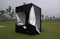 Garden Hydroponic System Greenhouse Indoor Grow Tent 600D 59x59x78 Inch (150x150X200cm) Growing Home Vent Greenhouse Agriculture