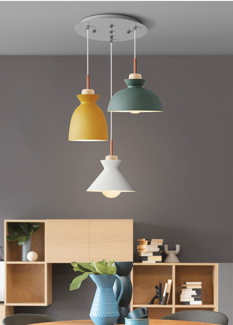 Phube Beleuchtung Moderne Pendelleuchte Weiß Grün Grau Gelb ...