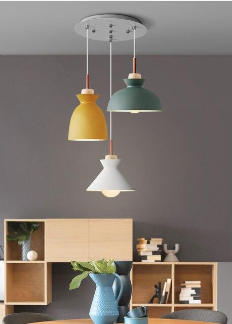 Phube Lighting Modern Pendant Light White Green Grey Yellow Bar Restaurant Living Room