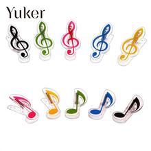 Yuker 1 Pcs Plastic Music Book Page Clip Book Note Clip Treble Clef Clip Bookmarks Piano Clamps