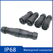 1PC Waterproof Cable Connector IP68 Aviation Plug New Energy 2 3 4 5 6 7 8 9 10 Pin Wire Connectors for Cars Outdoor Led Lights