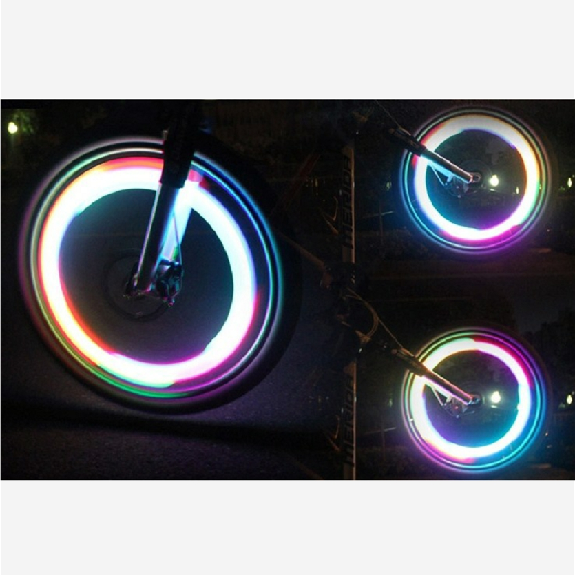 Mini Willow Shape LED Bicycle Wheel Spoke Light Waterproof Bike Cycling Lamp