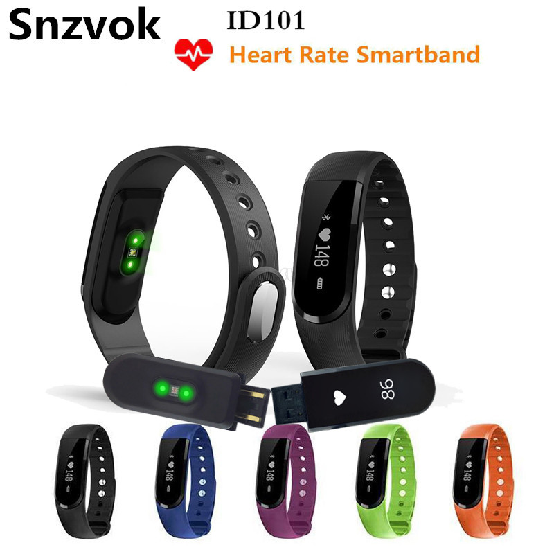 Snzvok ID101 Smart Bracelet With Heart Rate Monitor Wristband Bluetooth 4 0 Sports Fitness Sleep Tracker