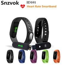 Snzvok ID101 Умный Браслет С Heart Rate Monitor Браслет Bluetooth 4.0 Спорт Фитнес Сна Трекер Для IOS Android Смотреть