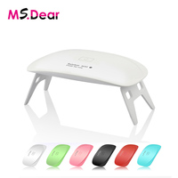 Nail Dryer 5W UV LED Mini Curing Lamp 6 Lights Portable For Gel Based Polishes Nail