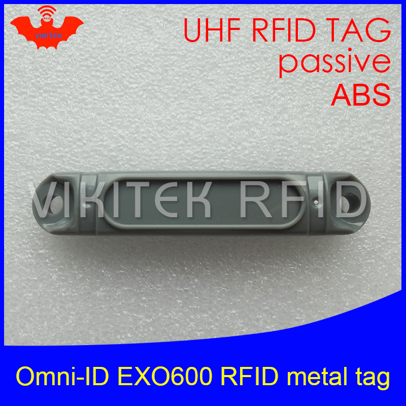 UHF RFID anti-metal tag omni-ID EXO 600 EXO600 915mhz 868mhz Impinj Monza4QT EPCC1G2 6C durable ABS smart card passive RFID tags uhf rfid anti metal tag omni id adept 500 915m 868m gas cylinder management alien higgs3 epcc1g2 6c smart card passive rfid tags