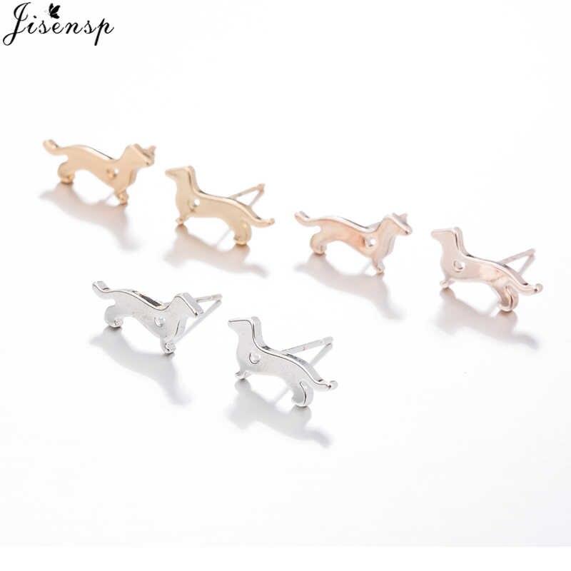 Jisensp variedade de moda mini gato veados animais brincos para mulheres brincos geométricos minimalista jóias acessórios brinco