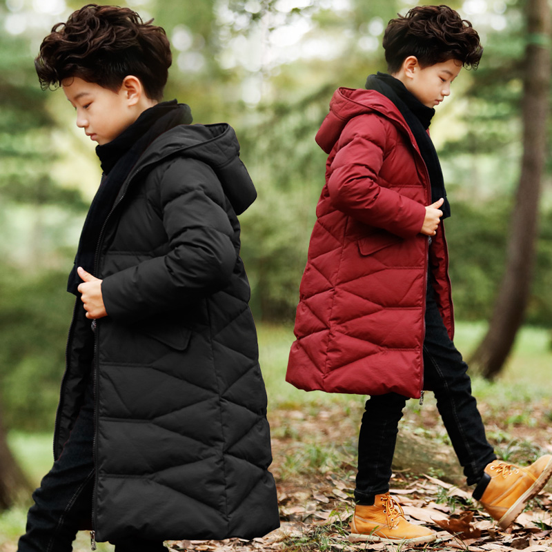 2016 New Boys Padded Long Winter Coat Jacket In The Children's Clothing Thickened Child Cotton Coat Kids Clothing 2017 women in the long down middle school students winter cotton thickened slim waist coat on behalf of the
