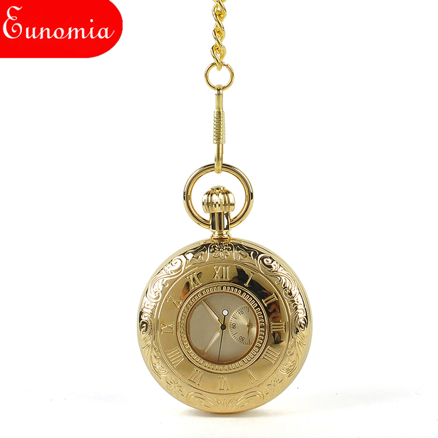 e3b1ca3a99aeb US $29.0  Luxury Gold Hollow Steampunk Skeleton Key Chain Necklace  Mechanical Pocket Watch Brand Gift Men Vintage Suits Watch -in Pocket & Fob  Watches ...