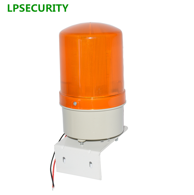 LPSECURITY outdoor LED strobe flashing lamp blinker alarm light emergency beacon for shutter door gate opener motors(no sound)
