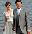 Custom Made 2 cinza vestido Formal homens clássicos ternos de casamento noivo smoking para 3 peça ( jaqueta + calça + colete + gravata )