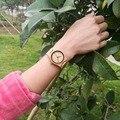 Amuda moda casual relojes de pulsera relojes con correa de cuero genuino de lujo de madera de bambú de las mujeres mejores regalos reloj de pulsera quantz