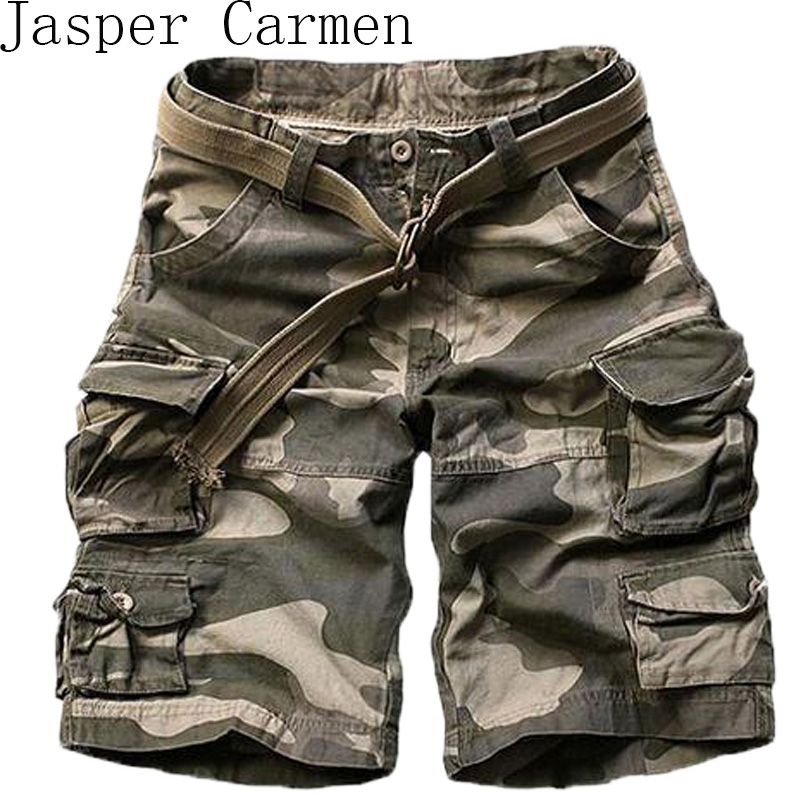 2017 New Summer mens casual army camo cargo shorts cotton Short pants military camouflage fashion shorts