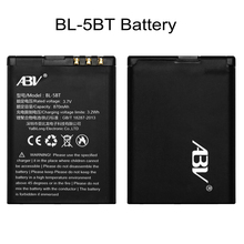 100% Original ABV BL-5BT battery 870mAh Replaceable Mobile