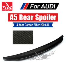 For Audi A5 A5Q 4-Door Rear Spoiler Caractere Style High-quality Carbon Trunk Wing car styling Accessories 2009-16