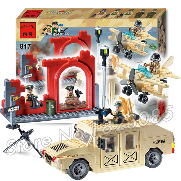 323pcs 2016 new Hot New CombatZones Hummers large model Christmas Gift Building Blocks toys Compatible With Lego orient tk 323