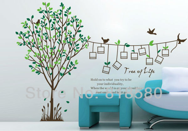 Free Shipping Home Decor Family Tree Wall Decal Wall Art Stickers