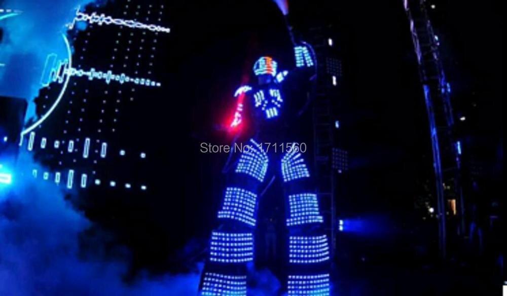 Costume de robot LED/vêtements de LED/costumes de lumière LED/costumes de Robot de LED/Costume de robot d'alexander