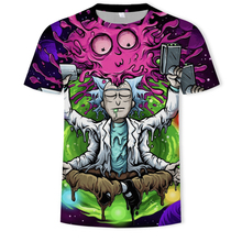 2019 HENRY LEHMAN pickle rick mens Rick and morty Anime funny t-shirt Summer T Shirt Graffiti  Satiric style