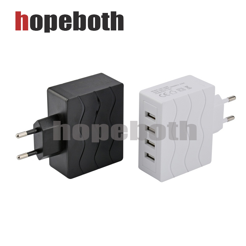 4 Ports USB Power Adapter Travel Wall Charger US Plug For iPhone Samsung