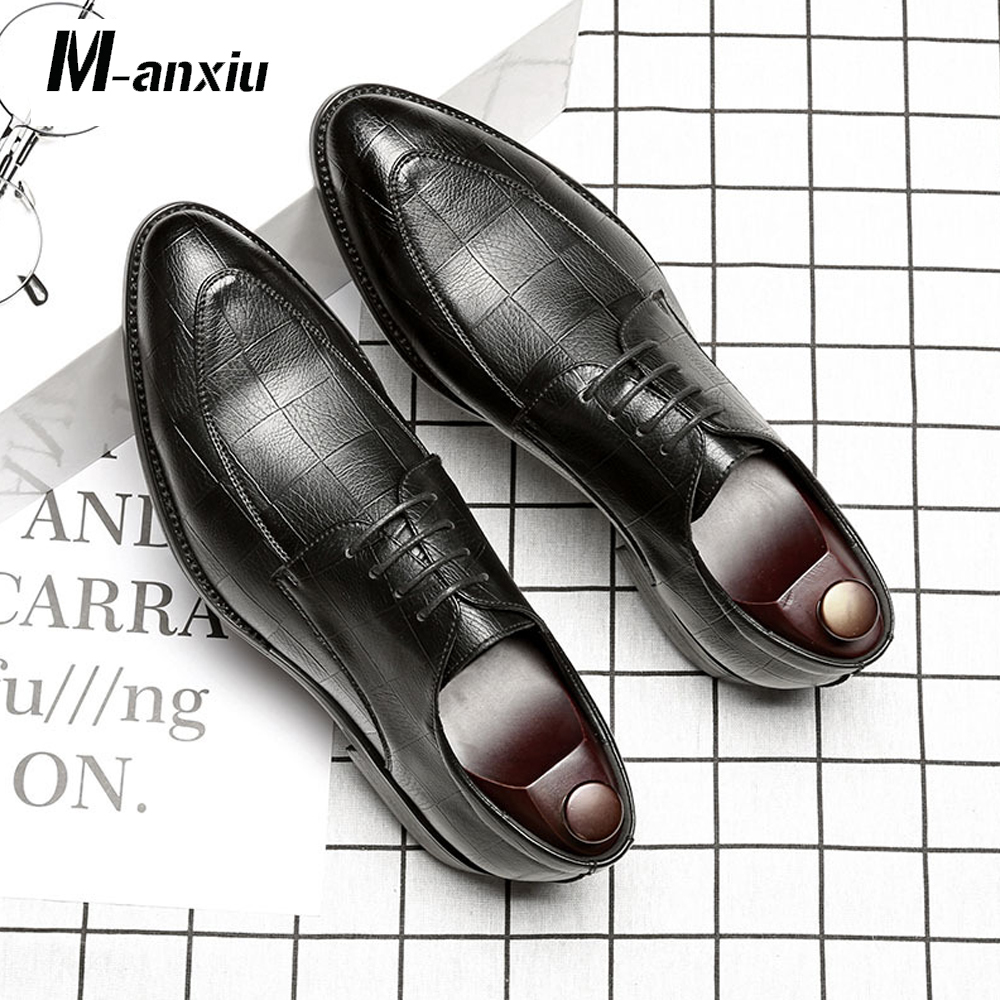 M-anxiu Personality Embossed Business Leather Shoes Fashion Casual Party Shoes Man Career Work Shoes Wedding Banquet ShoesM-anxiu Personality Embossed Business Leather Shoes Fashion Casual Party Shoes Man Career Work Shoes Wedding Banquet Shoes