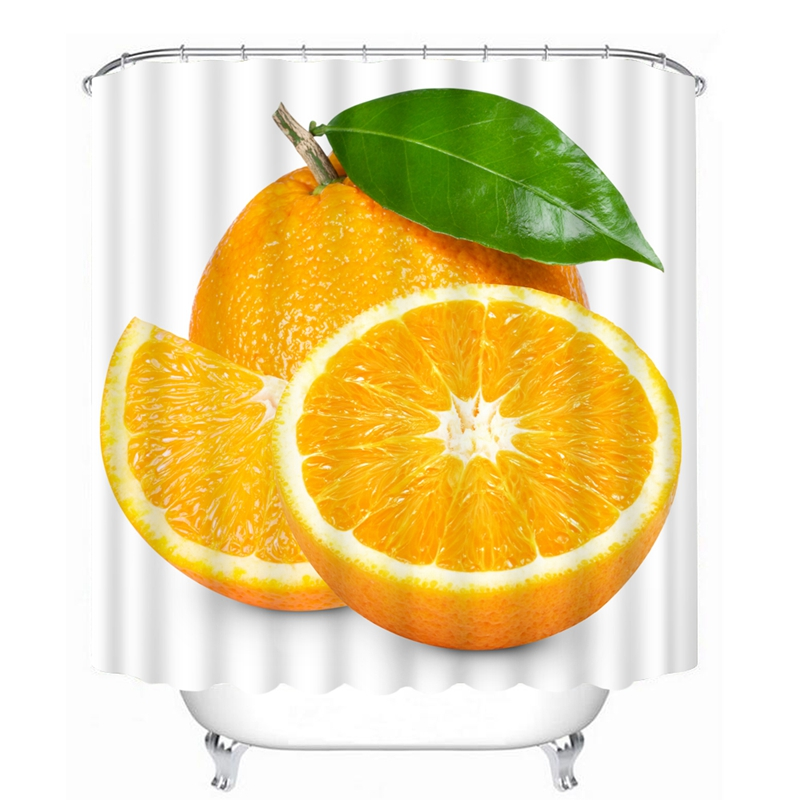 Orange Shower Curtains Hooks Promotion Shop For Promotional Appealing  Curtain Images Best Inspiration.
