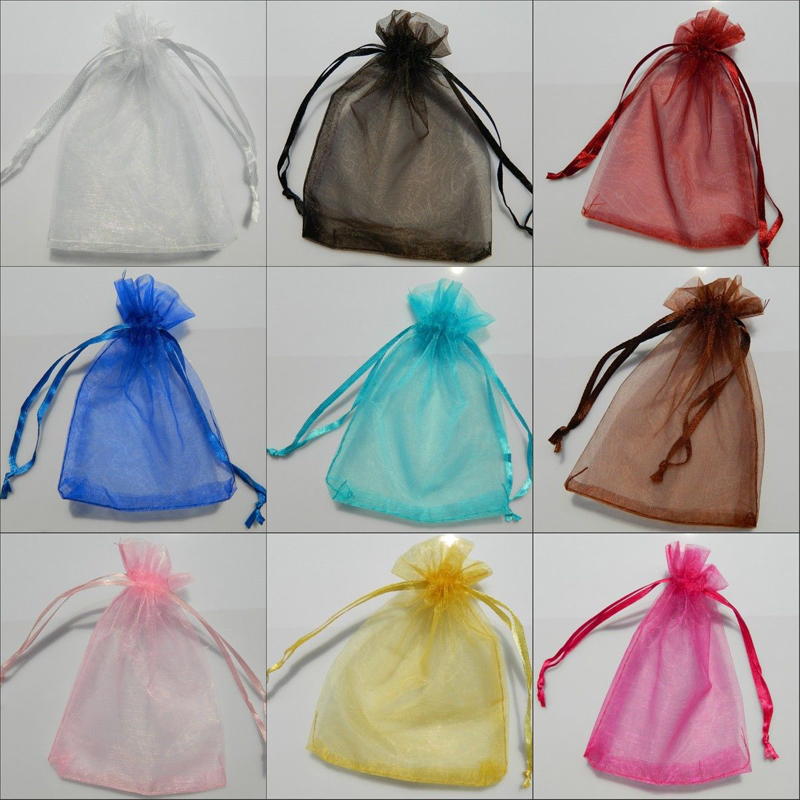 wholesale 50pcs sheer organza wedding party favor gift jewelry beads candy pouch bag new bulk