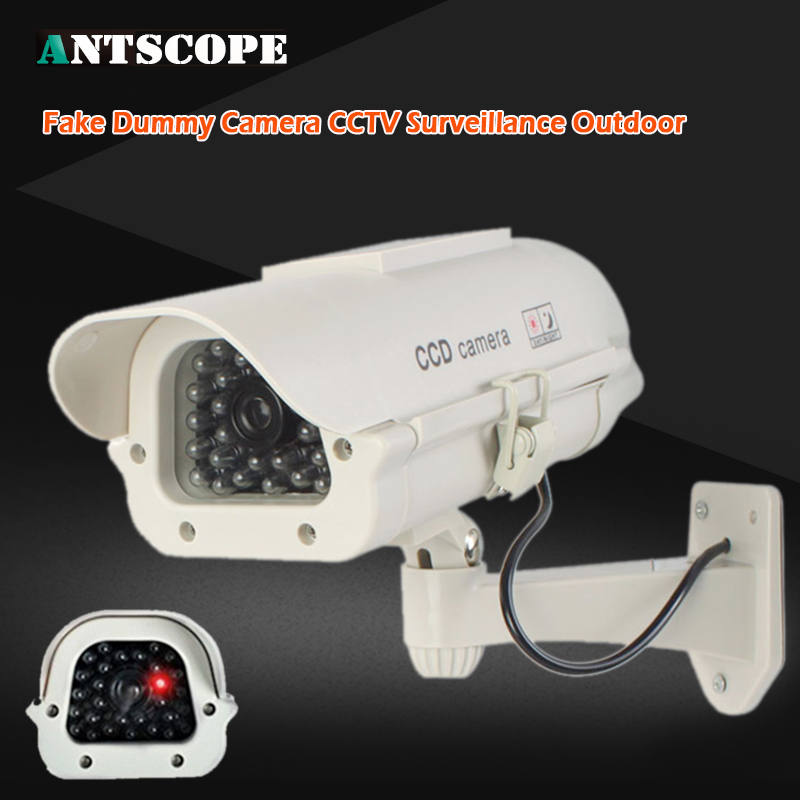 Dummy Fake Camera Security Bullet Emulational Camera CCTV Camera Monitor Waterproof Outdoor For Home Surveillance LED Flash wistino cctv camera metal housing outdoor use waterproof bullet casing for ip camera hot sale white color cover case