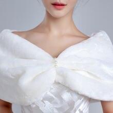 Настоящее фото в наличии меховые Свадебные обертки Свадебный