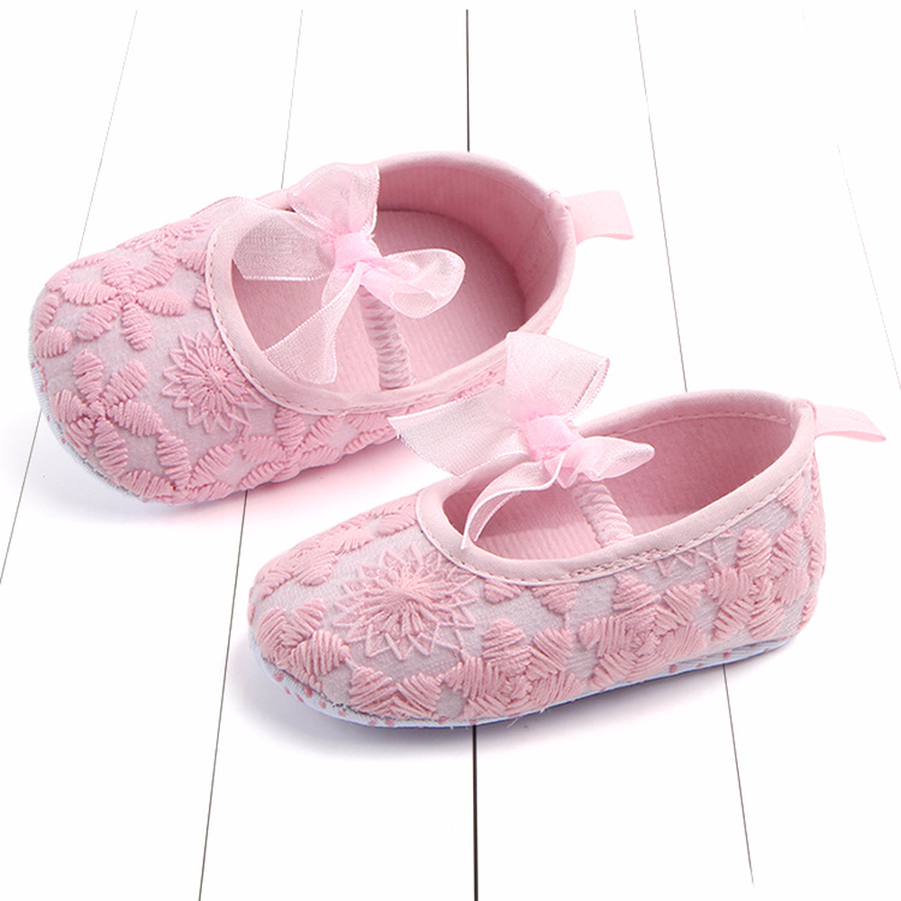 0 12M Baby toddler Girls Flowers bow solid shoes new arrival fashions spring autumn baby shoes girls footwear frist walkers in First Walkers from Mother Kids