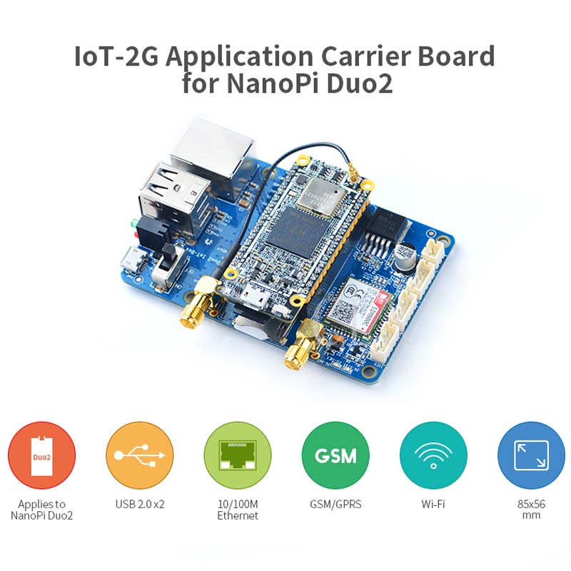 Nanopi Duo2 Extended Backplane IoT Internet Of Things GSM/GPRS+WiFi Dual Antenna