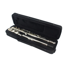 Brand JINYIN Cupronickel Nickel Plated Flute 16 Holes C Key Flute Woodwind Instrument with Case Cleaning Cloth Stick Screwdriver