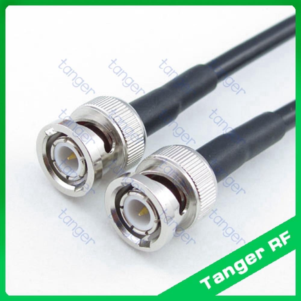 Heißer verkauf Tanger BNC stecker auf bnc-stecker gerade RF RG58 Zopf Jumper Koaxialkabel 3 Füße 100 cm und Hohe Qualität neue