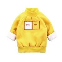 Winter Autumn Fashion Baby T Shirt Children Kids Cartoon Love Me Clothing Boys Girls Tops Pullover Warm Velvet