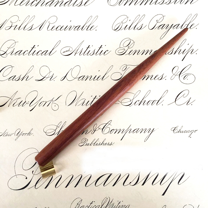 Handmade Solid Wood Copperplate Script Oblique Dip Pen Nib Holder Best Gift Englaish Calligraphy Dip Pen