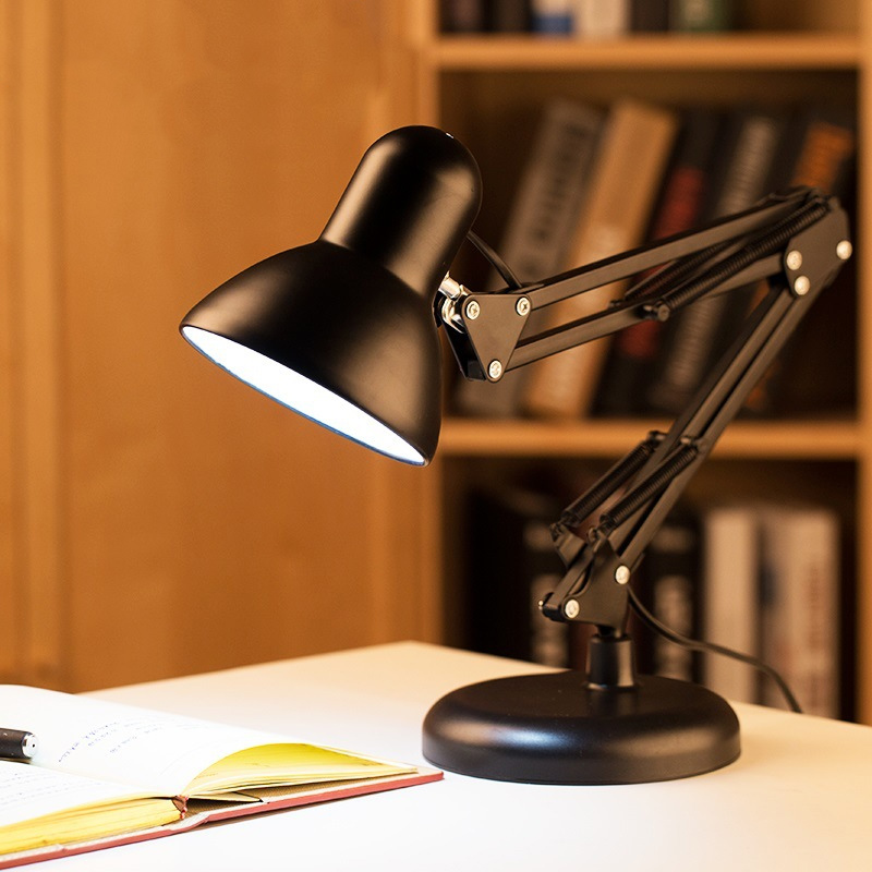Long Arm Foldable Led Long Arm Folding Table Lamp Metal American Multi-function Book Lights Dual Use Clipboard Table Lamp 5W 10V
