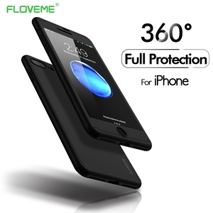 FLOVEME Full Coverage Case For iPhone 6S 6 7 8 Plus XS Max Ultra Thin Hard PC Protector Phone Cases For iPhone X XR 5S SE Shell
