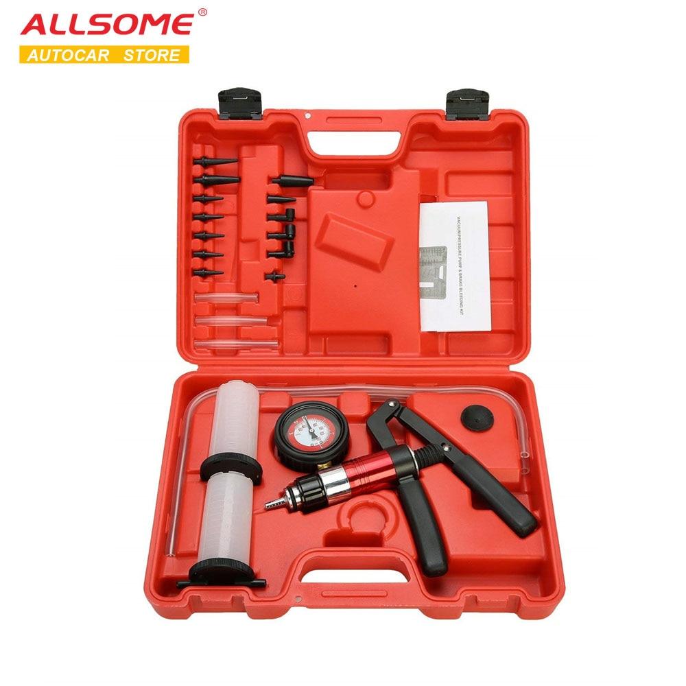 ALLSOME Auto Diagnostic-tool Car Auto Handheld Vacuum Pistol Pump Brake Bleeder Adaptor Fluid Reservoir Oil Tester Tools Kit