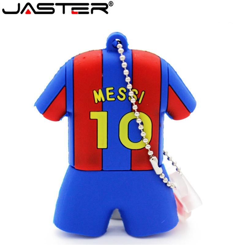 JASTER Barcelona Soccer Jersey Barca Messi Pendrive Usb Flash Drive 4GB 8GB 16GB 32GB Football Pen Drive Gift Free Shipping