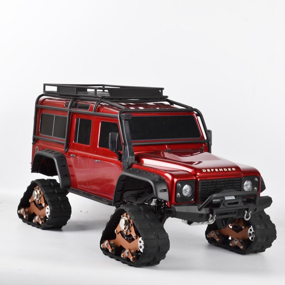 1/10 RC Pistes Roue Sandmobile Conversion Pneus Neige pour Traxxas Trx4 TRX-4 RC Sur Chenilles