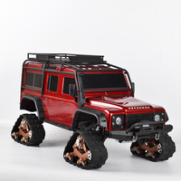 1/10 RC Tracks Wheel Sandmobile Conversion Snow Tire for Traxxas Trx4 TRX 4 RC Crawler