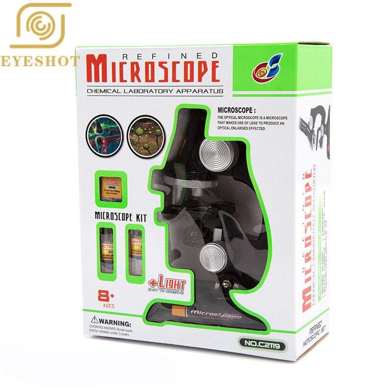 Öğrenci Çocuk eğitimi Mikroskop Yansıtan Ayna & Lamba büyük hediye ile Çocuk için Çocuk/çocuklar eğitici oyuncak