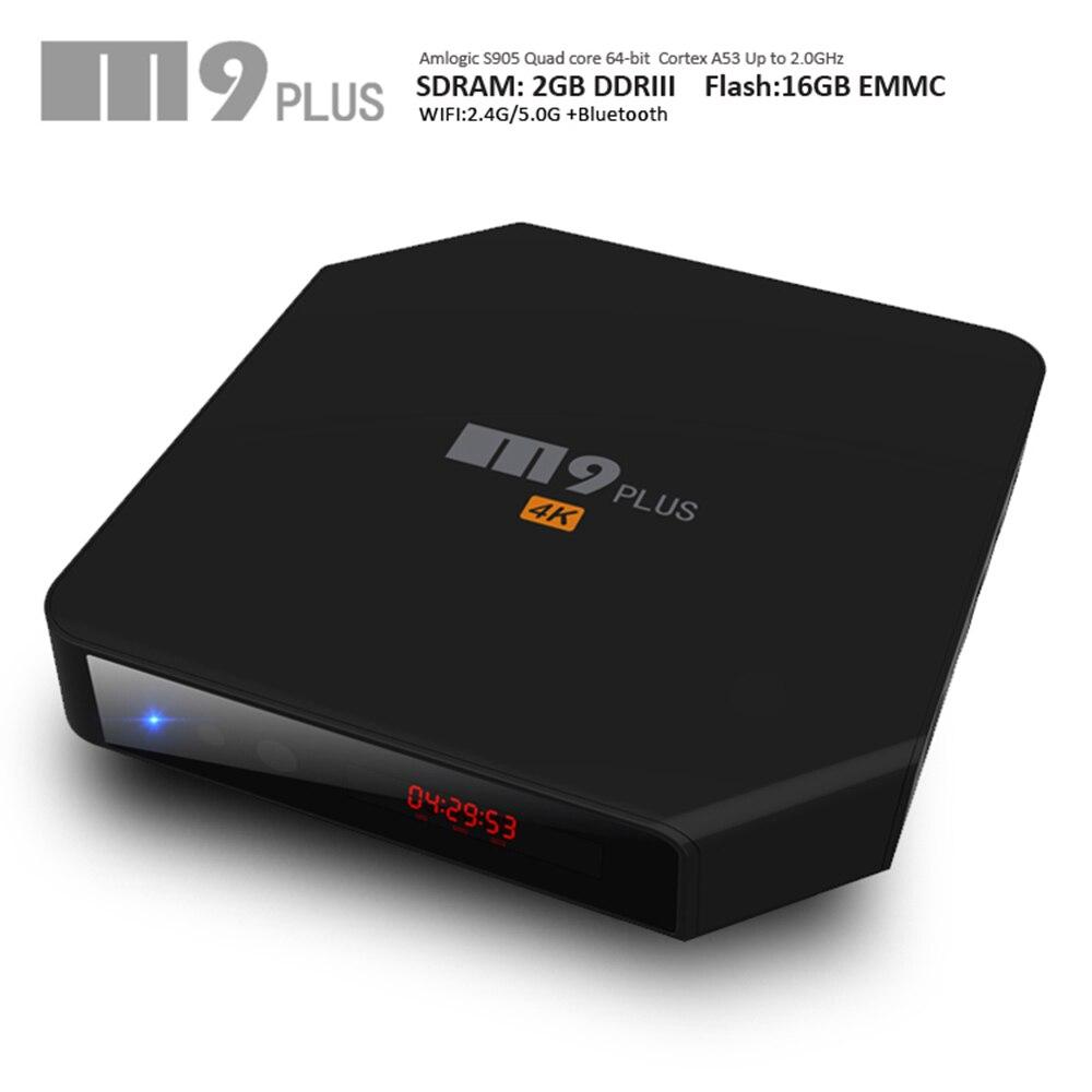 ФОТО Tv box  Android 5.1 Bluetooth 4.0 Amlogic S905 Quad Core XBMC 4K 2.4 G/5GHz Dual Wifi 2GB/16GB M9 Plus Set-top tv box receiver