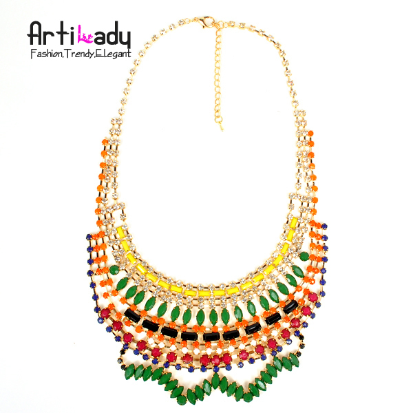 Arilady 2013 fashion choker chunkey necklace statement necklace spring 18k gold jewelry